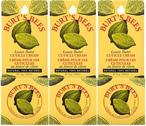 ihocon: Burt's Bees 100% Natural Lemon Butter Cuticle Cream, 0.6 Ounce, Pack of 3