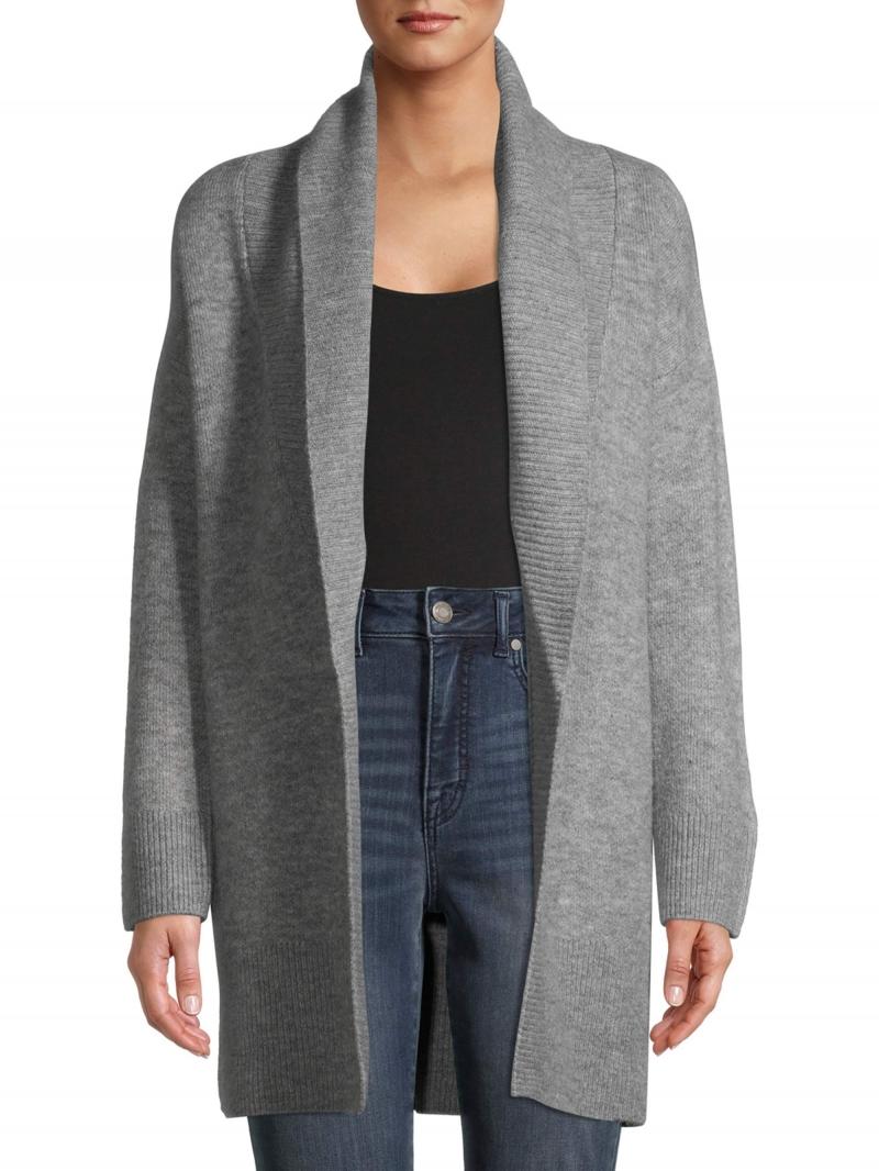 ihocon: Time and Tru Women's Shawl Collar Cardigan Sweater   女士開襟毛衣-多色可選