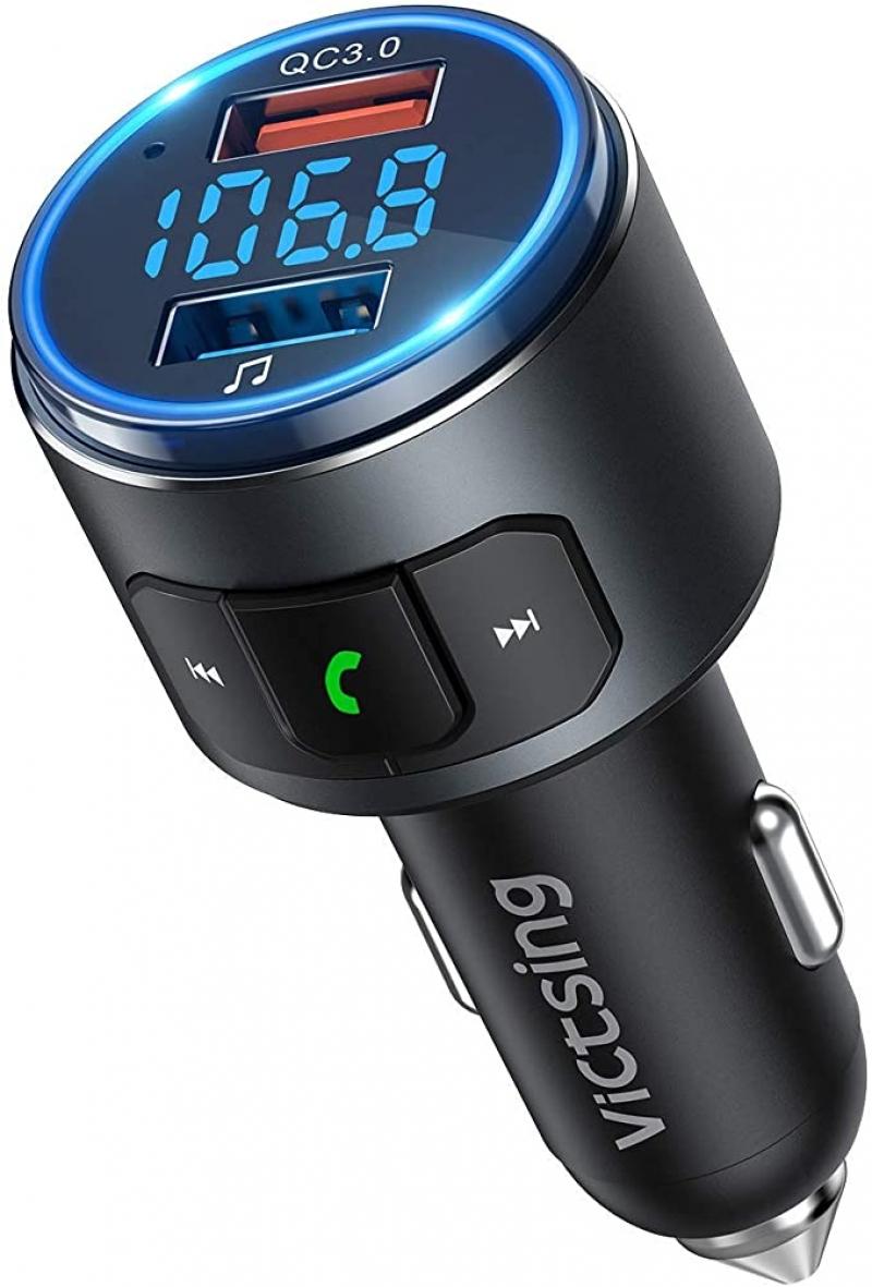 ihocon: VicTsing V5.0 Bluetooth FM Transmitter 汽車藍牙接收器/充電器