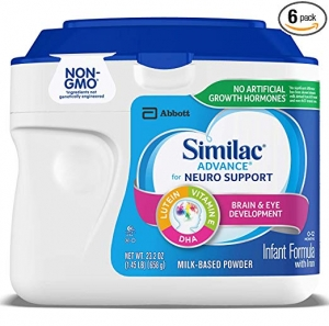 ihocon: Similac Advance For Neuro Support, Non-GMO Infant Formula with Iron, Baby Formula Powder, 23.2 oz (Pack of 6) Packaging May Vary 嬰兒奶粉