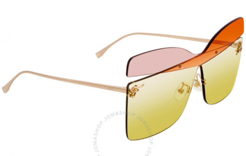 ihocon: Fendi Yellow Gradient Butterfly Ladies Sunglasses 蝴蝶太陽眼鏡