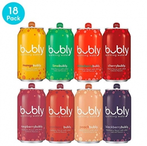 ihocon: bubly Sparkling Water, Berry Bliss Sampler, 12 fl oz. Cans, (Pack of 18) 氣泡水