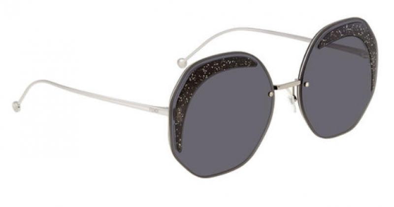 ihocon: Fendi Glass Grey Geometric Ladies Sunglasses女士太陽眼鏡