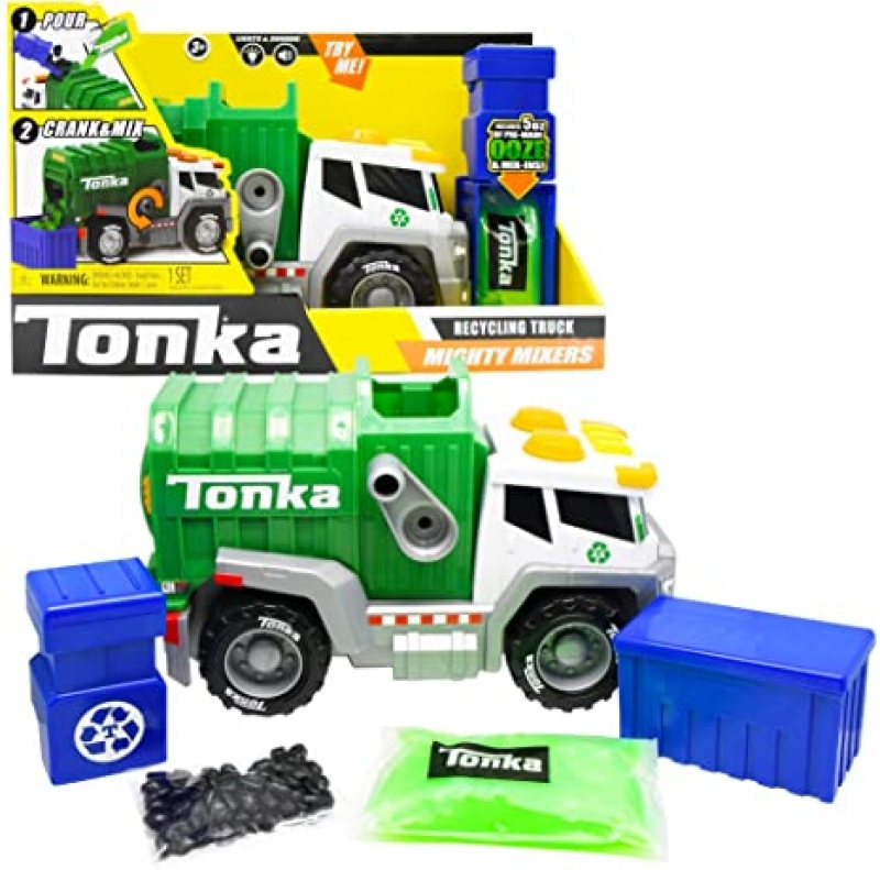 ihocon: Tonka Mega Machines Mighty Mixers L&S Recycling Truck 回收卡車