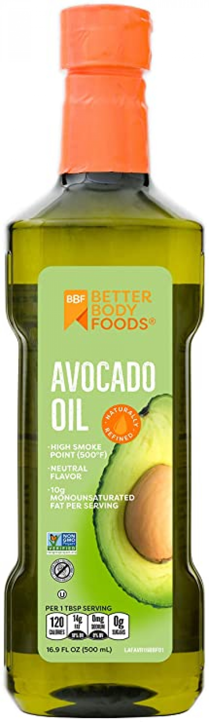 ihocon: BetterBody Foods Avocado Oil, Refined Non-GMO Cooking Oil for Paleo and Keto, 500 Milliliters  酪梨油16.9 FL OZ (500ml)