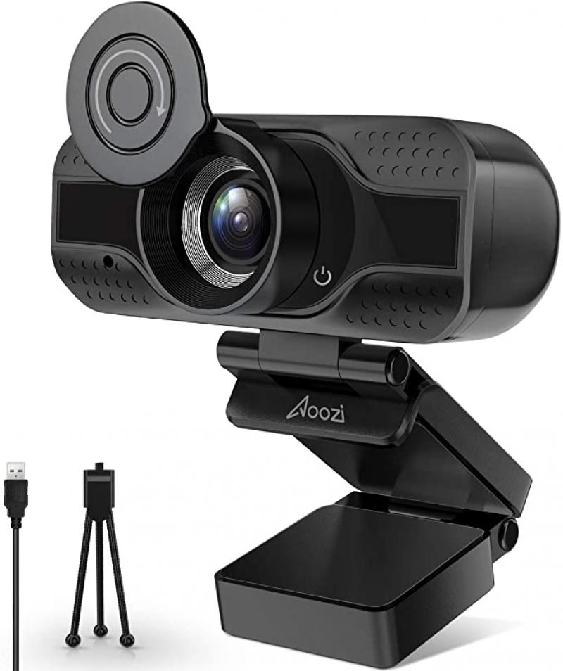 ihocon: Aoozi 1080P HD Webcam with Microphone 網絡攝像頭, 含麥克風