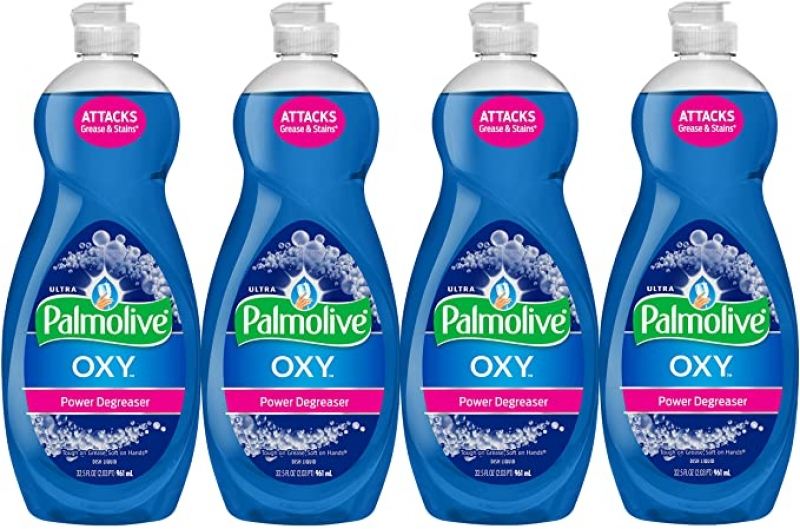 ihocon: Palmolive Ultra Dish Soap Oxy Power Degreaser, 32.5 Fl Oz (Pack of 4) 洗碗精