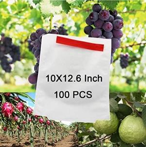 Alltripal 可重複使用水果保護防鳥防蟲袋10X12.6吋 100個 $18.99