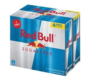 ihocon: Red Bull Energy Drink Sugar Free, 6 Pack of 8.4 Fl Oz 紅牛能量飲料
