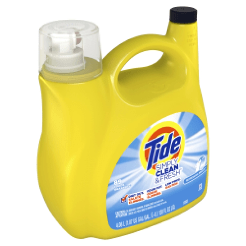 ihocon: Tide Simply Clean & Fresh Liquid Laundry Detergent, Refreshing Breeze, 138 Fl Oz 洗衣精
