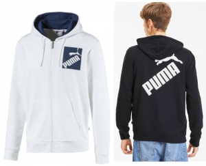 ihocon: PUMA Men's Big Logo Full Zip Hoodie男士連帽夾克-多色可選