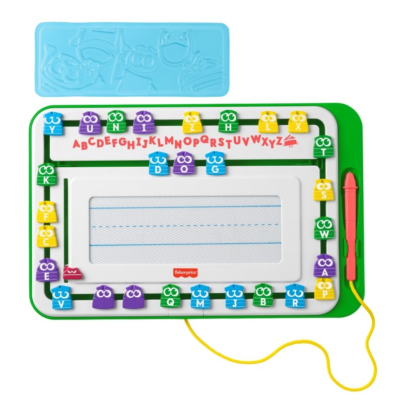 ihocon: Fisher-Price Storybots Slide Writer, Magnetic Drawing Board 兒童寫字/繪圖練習板
