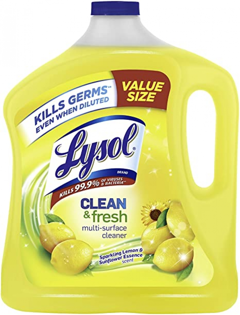 ihocon: Lysol Clean & Fresh Multi-Surface Cleaner, Lemon & Sunflower, 90 oz 萬用清潔劑