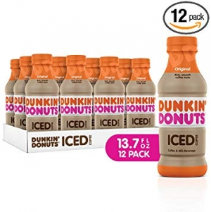 ihocon: Dunkin Donuts Iced Coffee, Original, 13.7 Fluid Ounce (Pack of 12)  冰咖啡