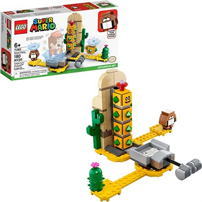 ihocon: [2020新款] LEGO Super Mario Desert Pokey Expansion Set 71363 Building Kit, New 2020 (180 Pieces) 樂高超級瑪利歐