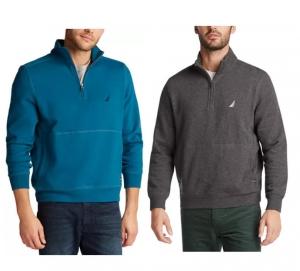 ihocon: Nautica Men's Classic-Fit Quarter-Zip Fleece Sweatshirt - 多色可選