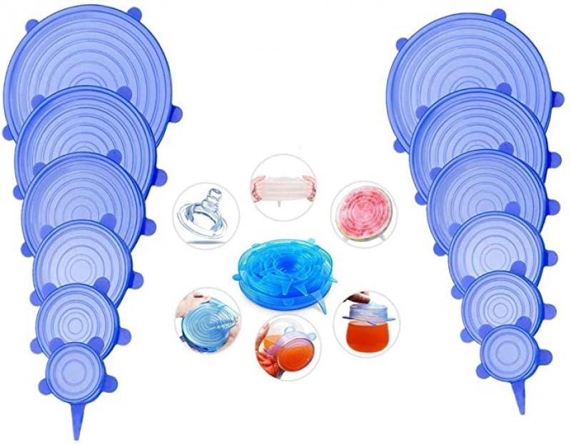 ihocon: DRON TOOON 12Pcs Silicone Stretch Lids 矽膠碗盤蓋