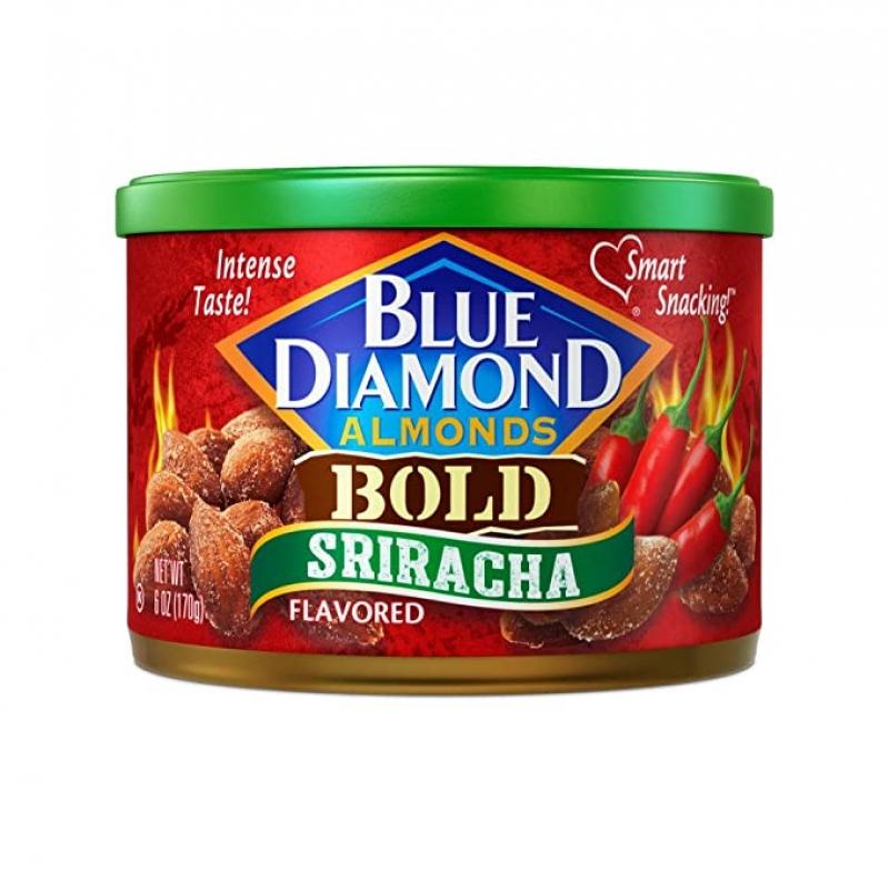 ihocon: Blue Diamond BOLD Sriracha Almonds, 6 Ounce 是拉差口味杏仁