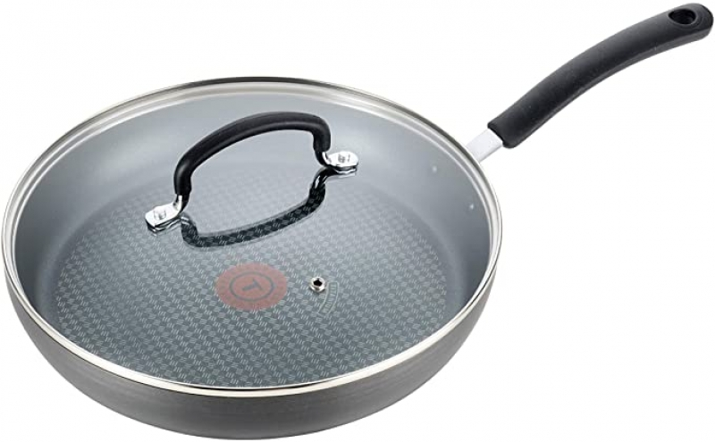 ihocon: T-fal Nonstick Dishwasher Safe Cookware Lid Fry Pan, 10-Inch 含蓋不沾鍋