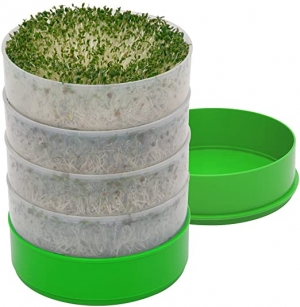 ihocon: Kitchen Crop VKP1200 Deluxe Kitchen Seed Sprouter, | 6 Diameter Trays, 1 Oz Alfalfa Included 多層芽菜發芽盆
