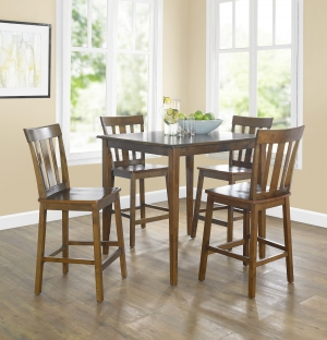 ihocon: Mainstays 5-Piece Mission Counter-Height Dining Set 餐桌椅