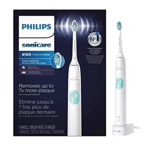 ihocon: Philips Sonicare ProtectiveClean 4100 Rechargeable Electric Toothbrush, White HX6817/01飛利浦電動牙刷