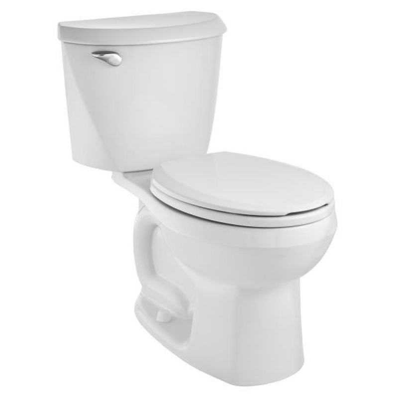 ihocon: American Standard Reliant 2-Piece 1.28 GPF Single Flush Round Toilet with Slow Close Seat 馬桶