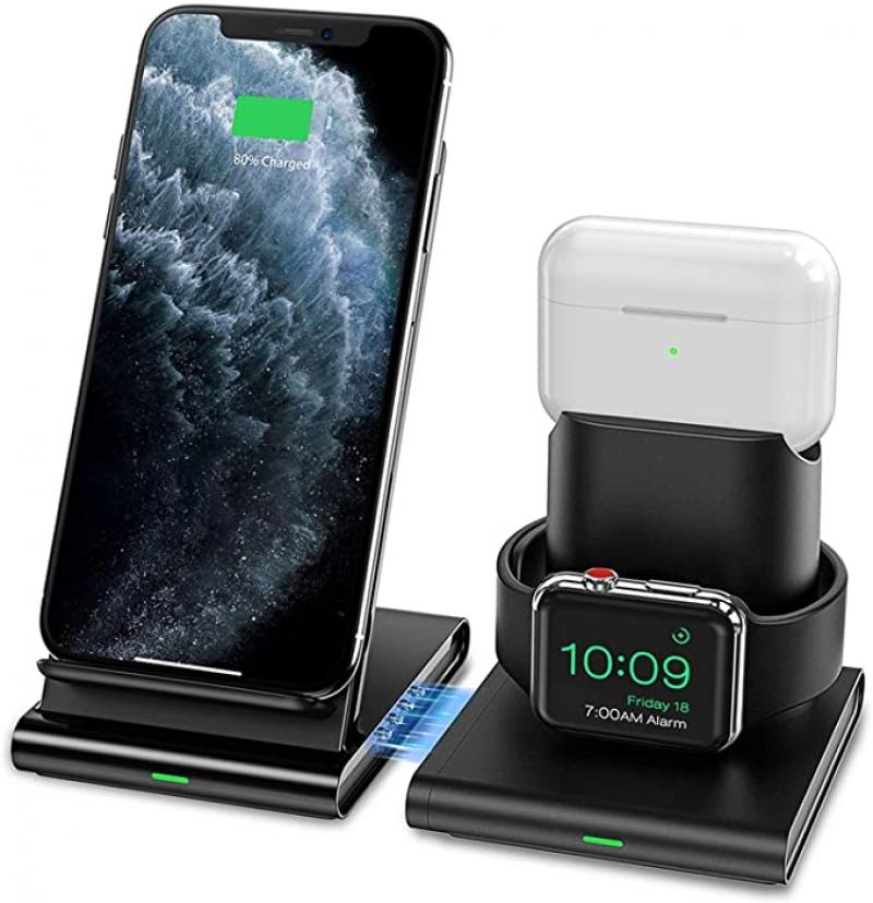 ihocon: Seneo 3 in 1 Wireless Charging Station iPhone/Apple Watch / Airpods無線充電器