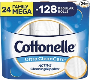 [24捲等於108捲的份量] Cottonelle 廁所捲筒衛生紙 24捲 $25.18免運