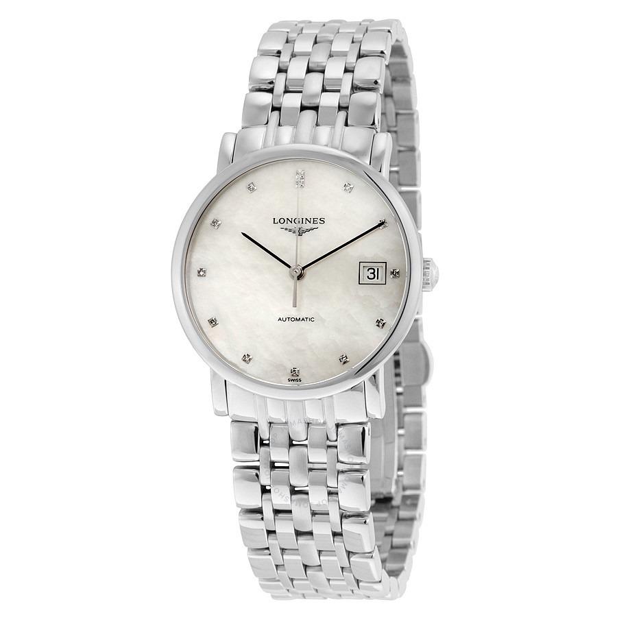 ihocon: Longines Elegant Automatic Mother of Pearl Ladies Watch 浪琴女錶