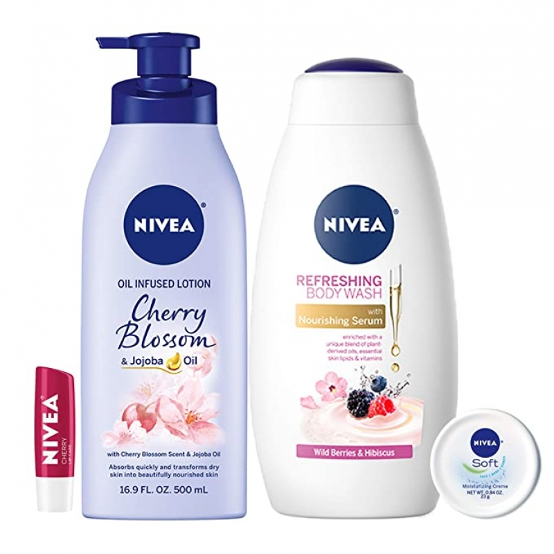 ihocon: NIVEA Fresh and Fruity Self-Care Kit - 4 Piece 保養套裝