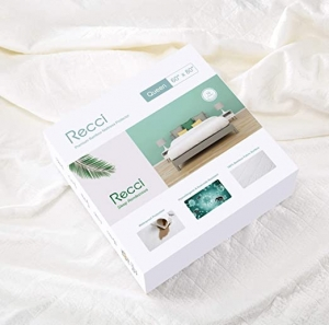 ihocon: RECCI Premium Bamboo Mattress Protector Queen Size - 100% Bamboo Fabric Surface Mattress Cover, Waterproof竹纖防水床墊保護罩