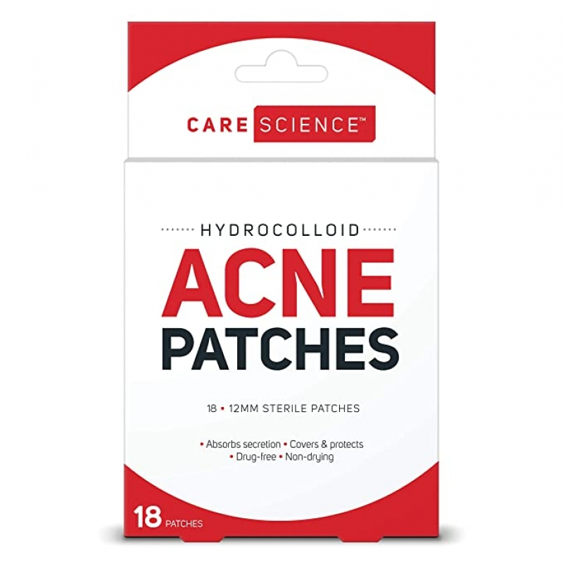 ihocon: Care Science Hydrocolloid Acne Pimple Patch, 18 Count 青春痘貼片