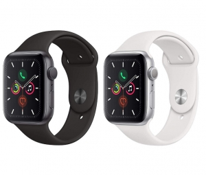ihocon: Apple Watch Series 5 (GPS, 44mm) - Silver Aluminum Case with White Sport Band