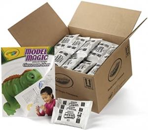 ihocon: Crayola Model Magic Classpack, White Clay, Modeling Clay Alternative, 75 Single Packs 輕粘土