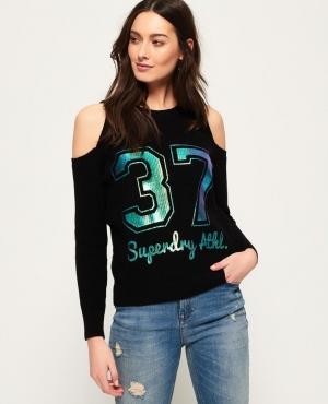 ihocon: Superdry Beach Club Cold Shoulder Knit Top 女士露肩針織上衣