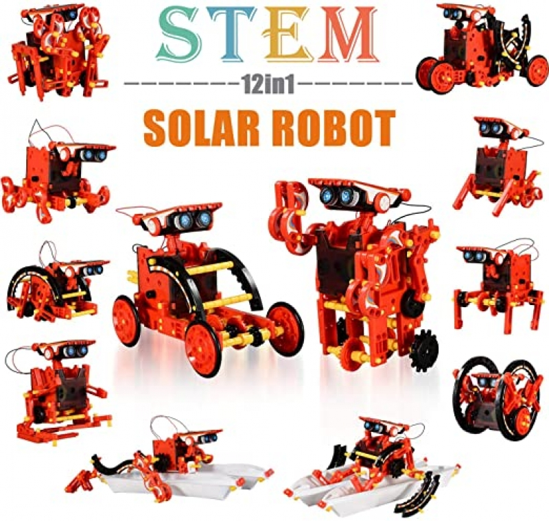 ihocon: Education STEM 12-in-1 Solar Robot Kit Toys太陽能組合機器人