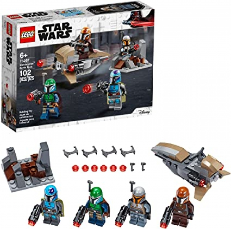 ihocon: [2020新款] LEGO Star Wars Mandalorian Battle Pack 75267 Mandalorian Shock Troopers and Speeder Bike Building Kit, New 2020 (102 Pieces)