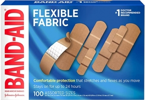 ihocon: Band-Aid Brand Flexible Fabric Adhesive Bandages for Wound Care & First Aid, Assorted Sizes, 100 ct, Beige 創可貼/OK繃