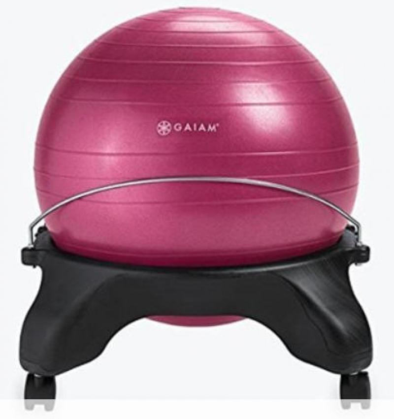 ihocon: Gaiam Classic Backless Balance Ball Chair 平衡球椅