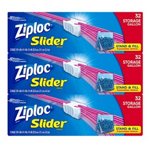 ihocon: Ziploc Gallon Slider Storage Bags, 32 ct (Pack of 3) 96 total bags 夾鍊收納袋