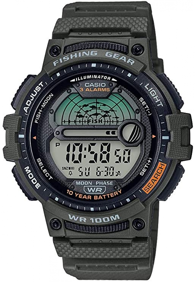 ihocon: Casio Men's Fishing Timer Quartz Watch卡西歐男錶