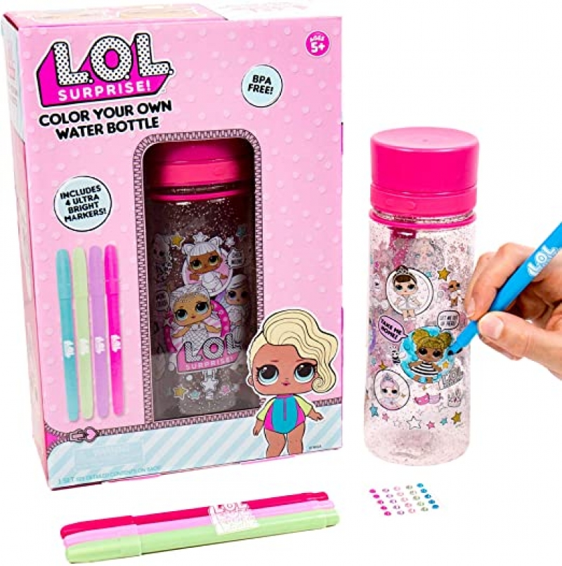 ihocon: L.O.L. Surprise! Color Your Own Water Bottle 自己動手彩繪水壺