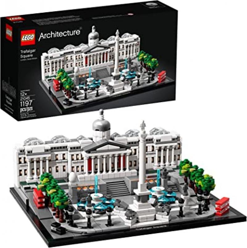 ihocon: LEGO Architecture 21045 Trafalgar Square Building Kit (1197 Pieces) 樂高積木特拉法加廣場