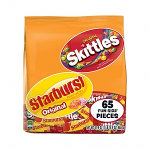ihocon: SKITTLES & STARBURST Fun Size Variety Mix 31.9-Ounce Bag 65 Pieces 糖果
