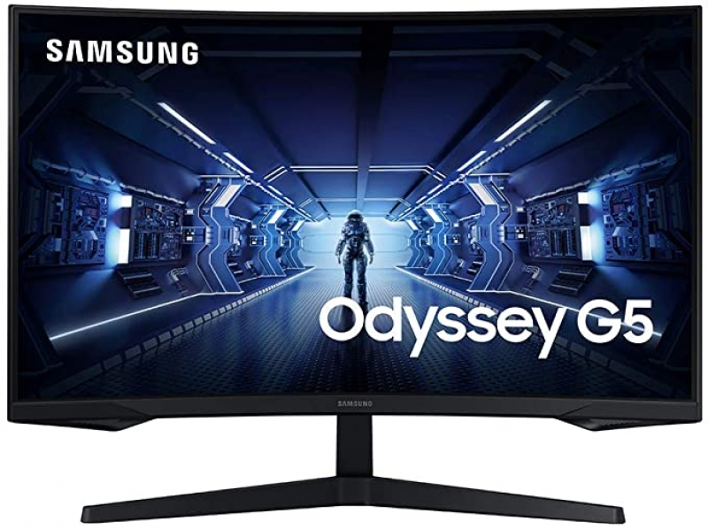 ihocon: SAMSUNG 32-Inch G5 Odyssey Gaming Monitor with 1000R Curved Screen, 144Hz, 1ms, FreeSync Premium, QHD  曲型遊戲電腦螢幕