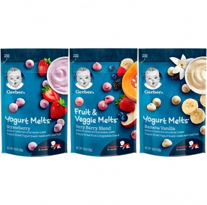 ihocon: [嬰兒副食品] Gerber Up Age Yogurt Melts & Fruit & Veggie Melts Assorted Variety Pack, 8Count