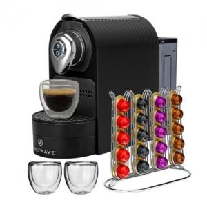 ihocon: ChefWave Mini Espresso Machine for Nespresso Capsules + Pod Holder +2 Glass Cups 膠囊咖啡機(適用Nespresso咖啡膠囊)