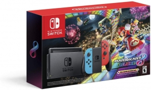 ihocon: Nintendo Switch with Neon Blue and Neon Red Joy‑Con w/ Mario Kart 8 Deluxe