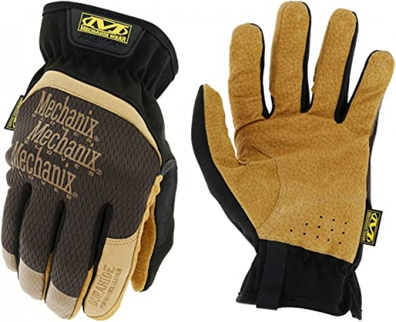 ihocon: Mechanix Wear: DuraHide FastFit Leather Work Gloves (Large, Brown/Black)真皮工作手套